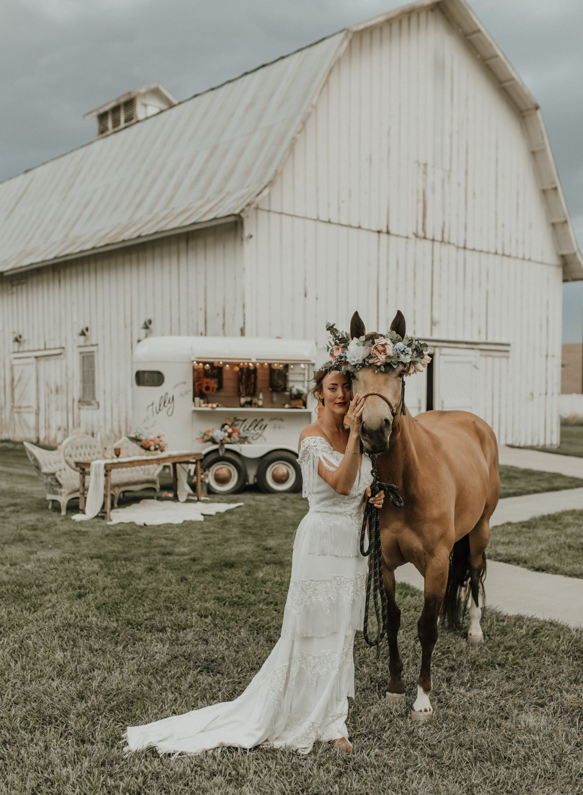 Set at The White Barn Barn at Happy Valley in Nampa, ID, this bride looks like a fairy tale.
