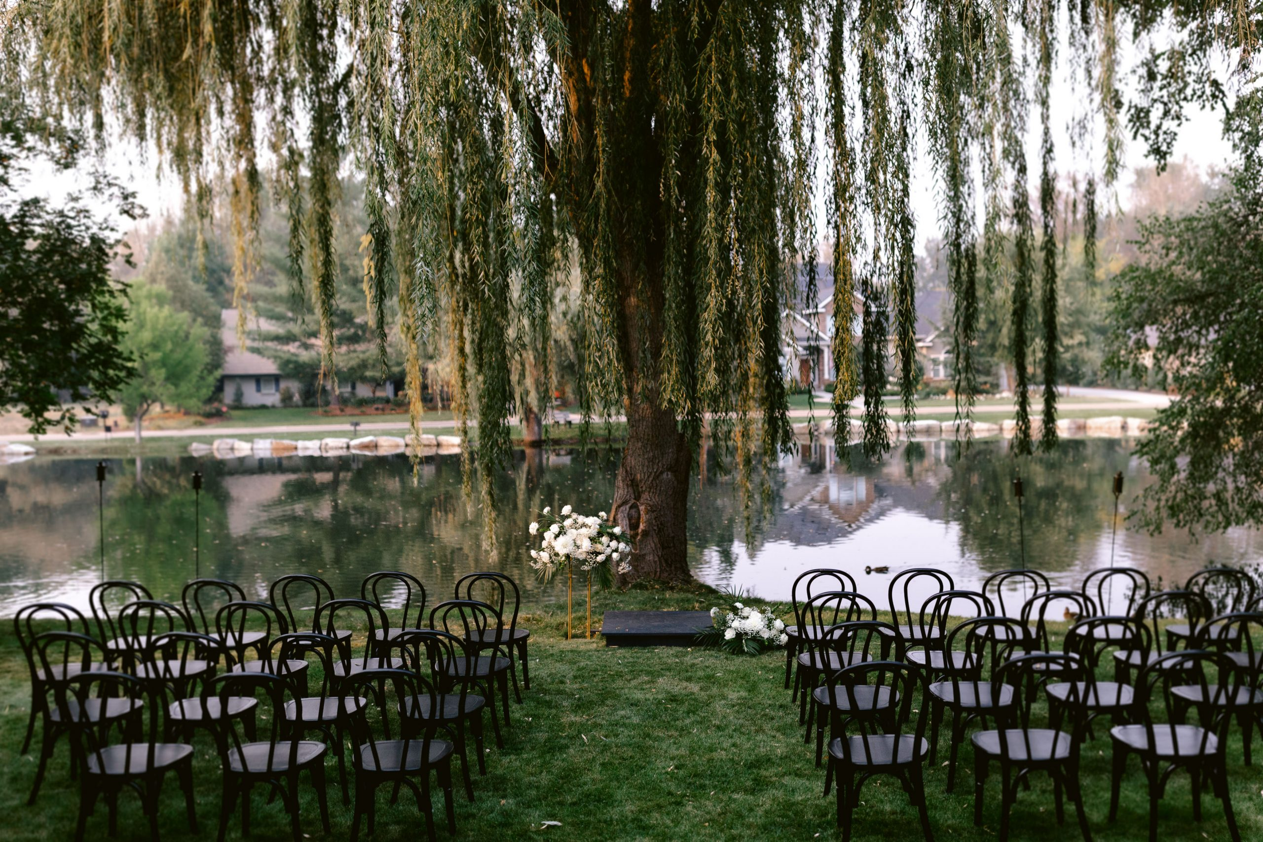 Black bentwood chairs from Blush Creek Rentals