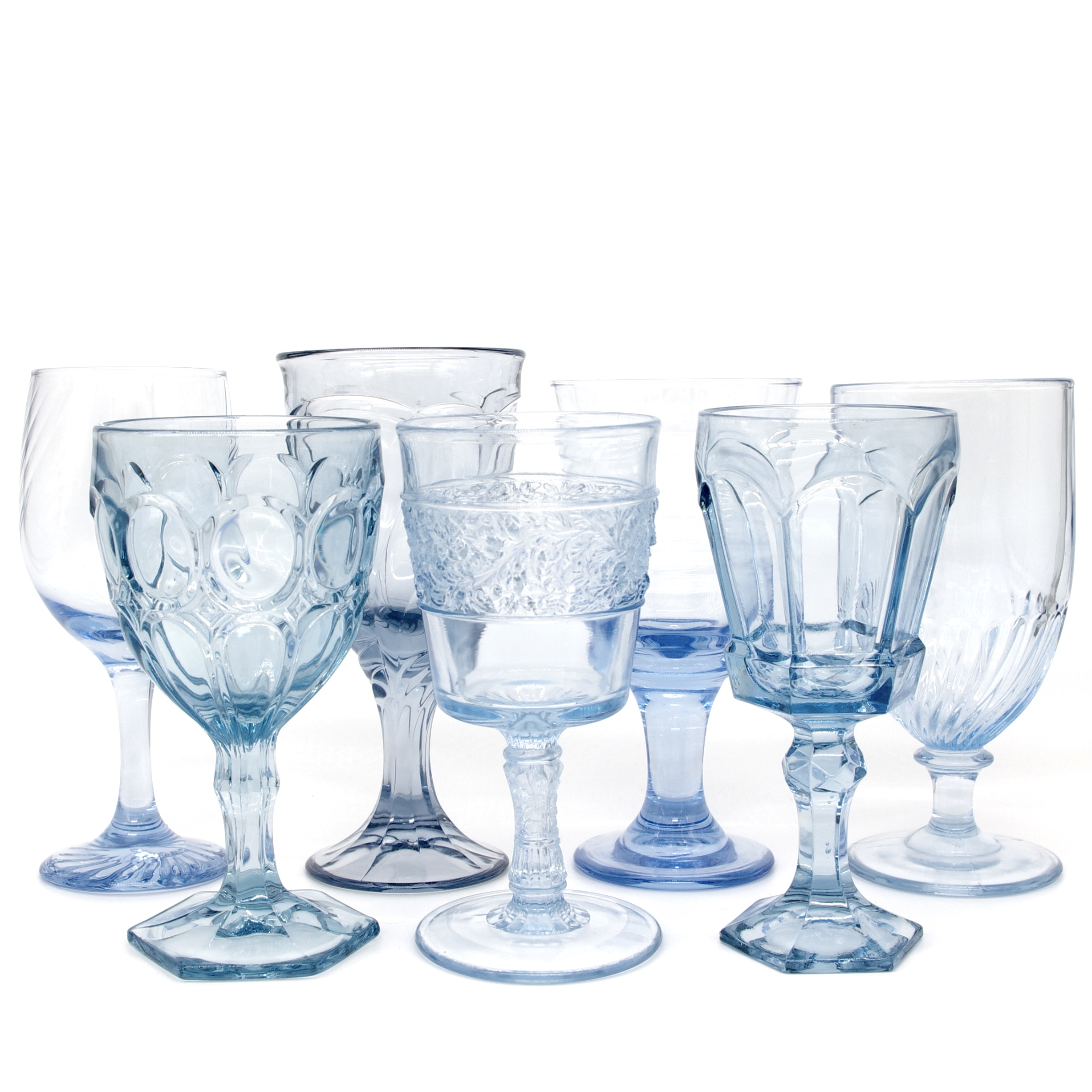 Vintage glassware and goblet rentals